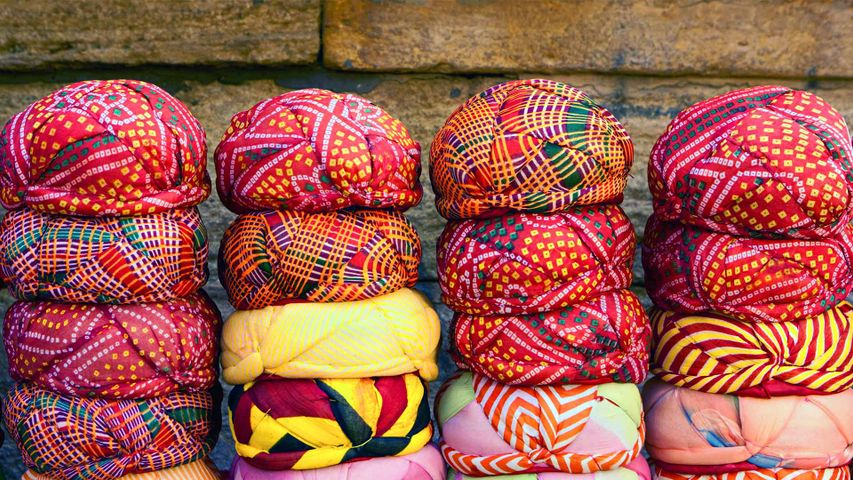 Colourful turbans for sale, Rajasthan.