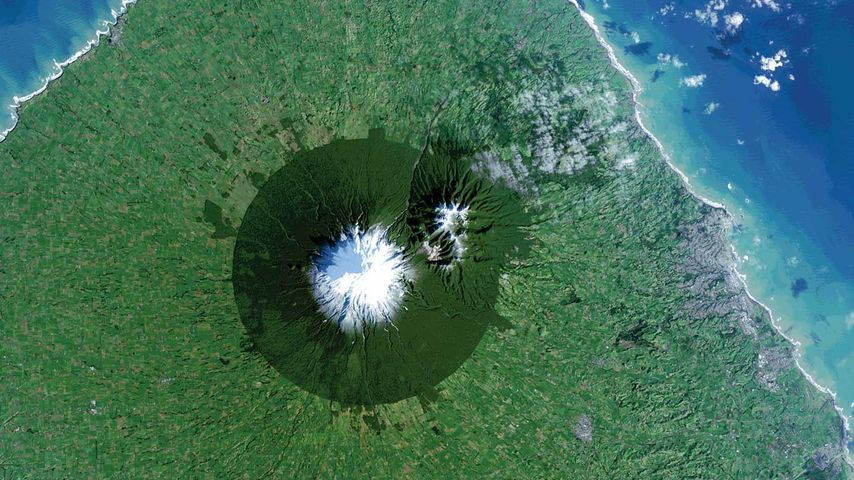Mount Taranaki in Egmont National Park, New Zealand