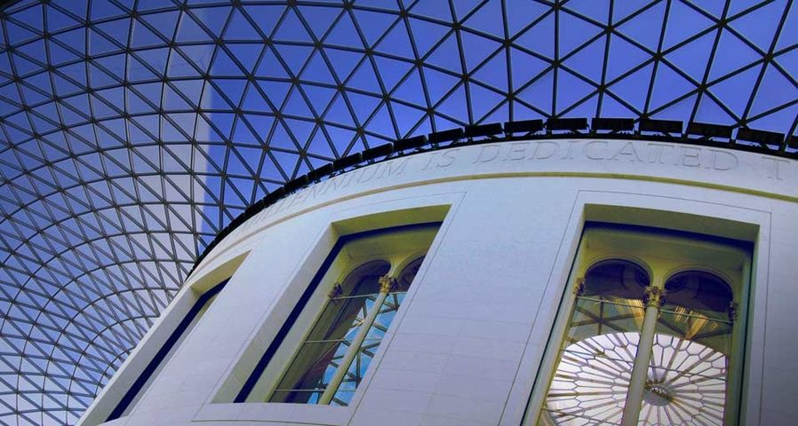 Great Court roof, British Museum in London, England
