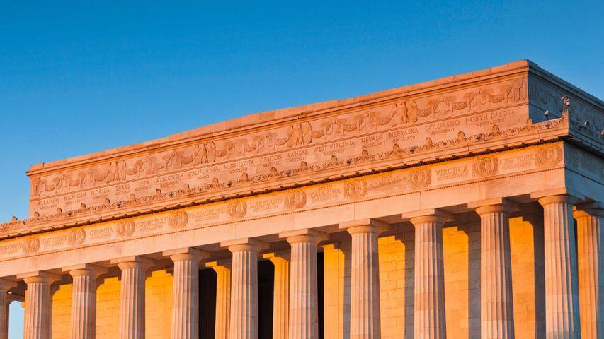 Detail of the Lincoln Memorial, Washington, DC