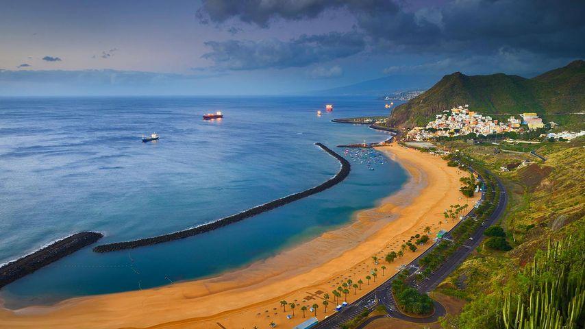 Playa de Las Teresitas, San Andrés, Teneriffa, Kanarische Inseln, Spanien