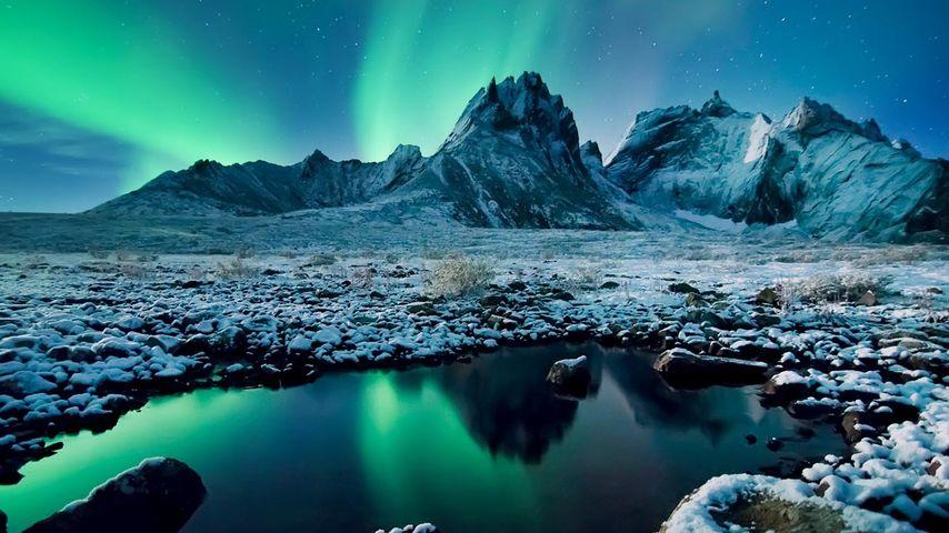Aurora borealis over Tombstone Territorial Park, Yukon, Canada