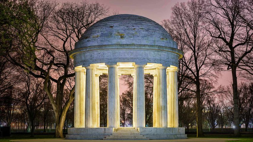 The DC War Memorial, honoring residents of Washington, DC, who fought in World War I