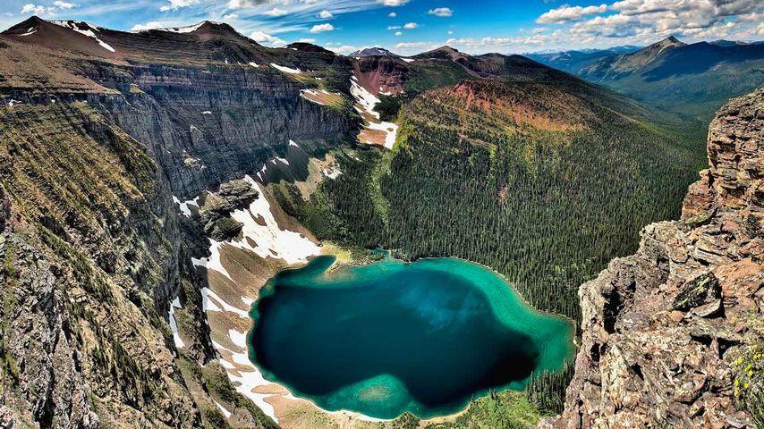 High Angle View Of Lake, Akamina Ridge, British Columbia, Canada