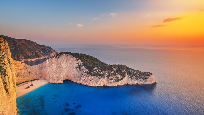 希腊扎金索斯的沉船湾