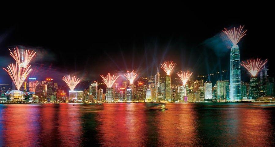 「ビクトリア・ハーバーの花火」中国, 香港