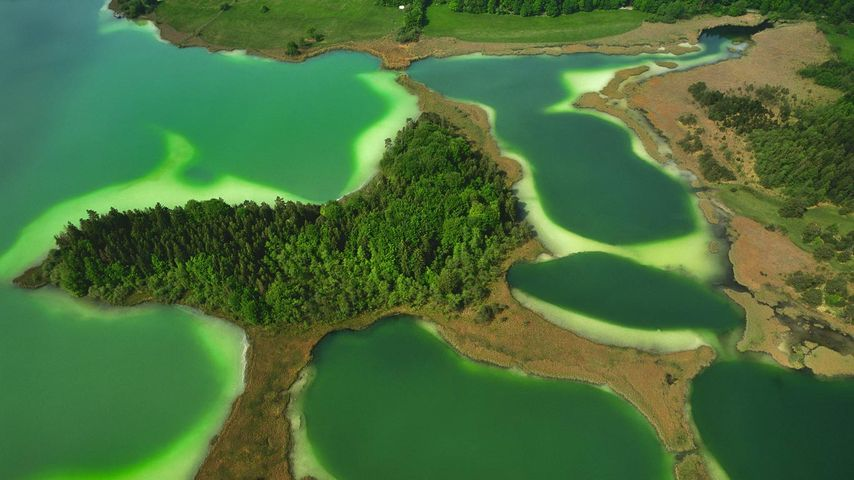 The Osterseen in Upper Bavaria, Germany