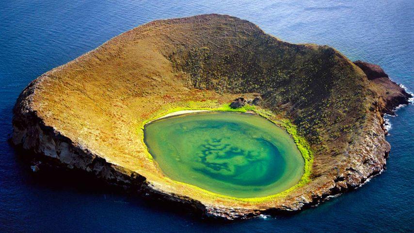 科隆群岛,圣地亚哥岛的火山口