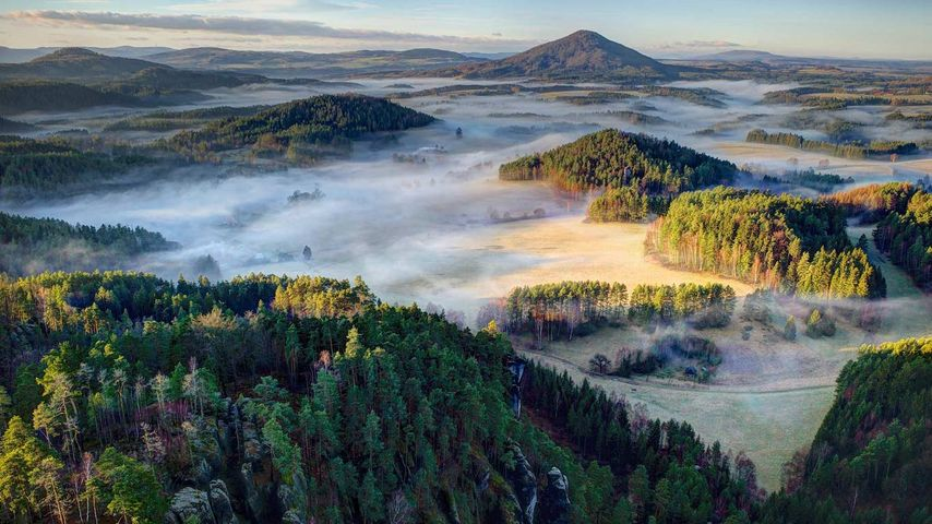 「ボヘミアン・スイス国立公園」チェコ共和国