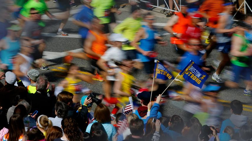 Runners in the 118th Boston Marathon on Monday, April 21, 2014