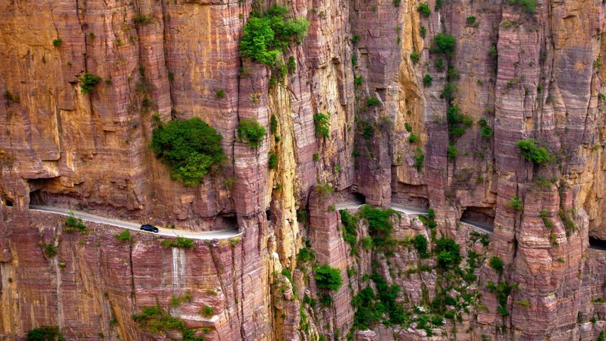 Guoliang Tunnel in the Taihang Mountains in Henan Province, China