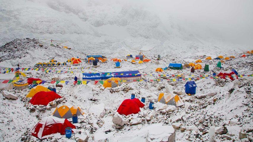 尼泊尔昆布地区的珠峰大本营