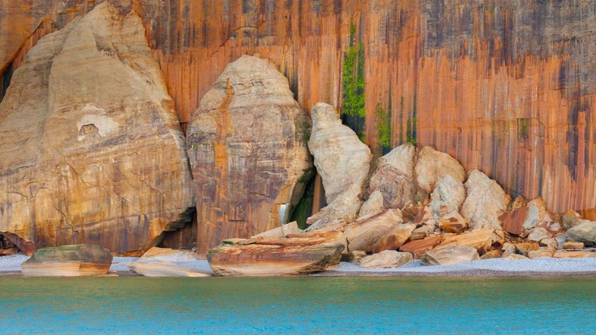 Naturschutzgebiet Pictured Rocks National Lakeshore, Michigan, USA