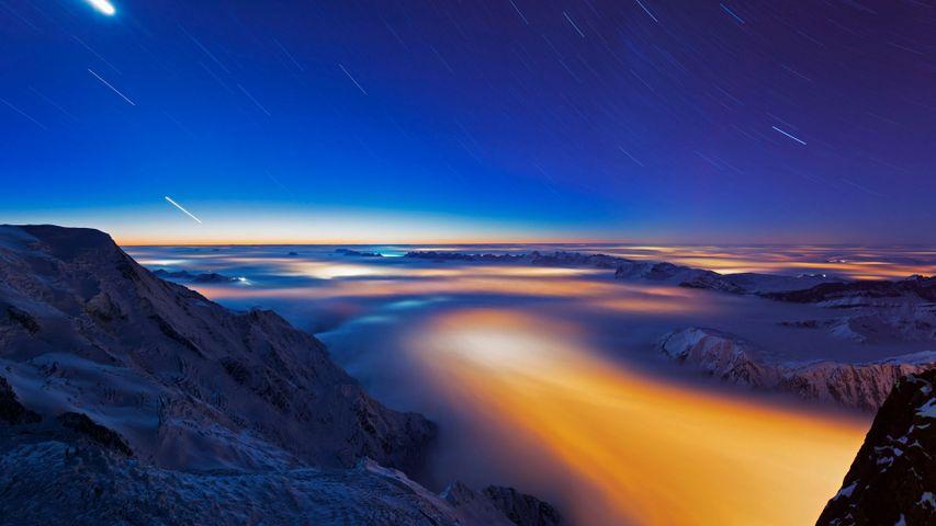 「シャモニー渓谷の雲海」フランス, シャモニー=モン=ブラン