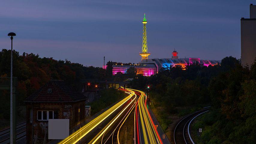 Funkturm und Messegelände, Berlin, Deutschland