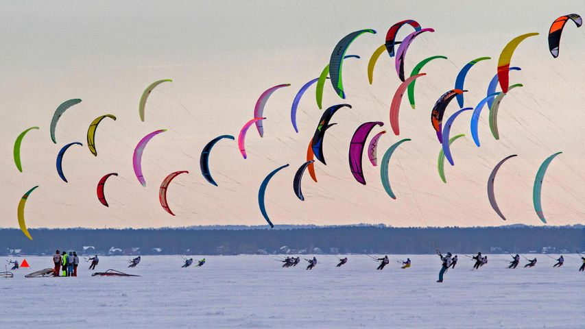 Siberian Snowkiting Cup in Novosibirsk, Russia