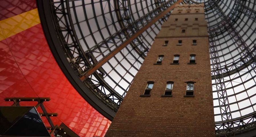 Coops Shot Tower within the glass dome of the Melbourne Shopping Centre, Victoria, Australia
