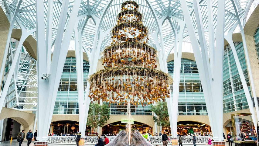 Christmas decorations at the Allen Lambert Galleria in Brookfield Place, Toronto