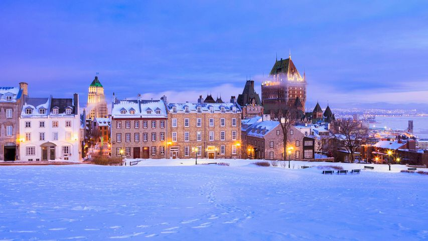 Saint-Denis Street and Chateau Frontenac in Quebec City
