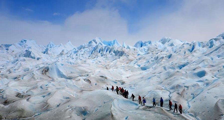 Der Perito-Moreno-Gletscher im Nationalpark Los Glaciares, Patagonien, Argentinien