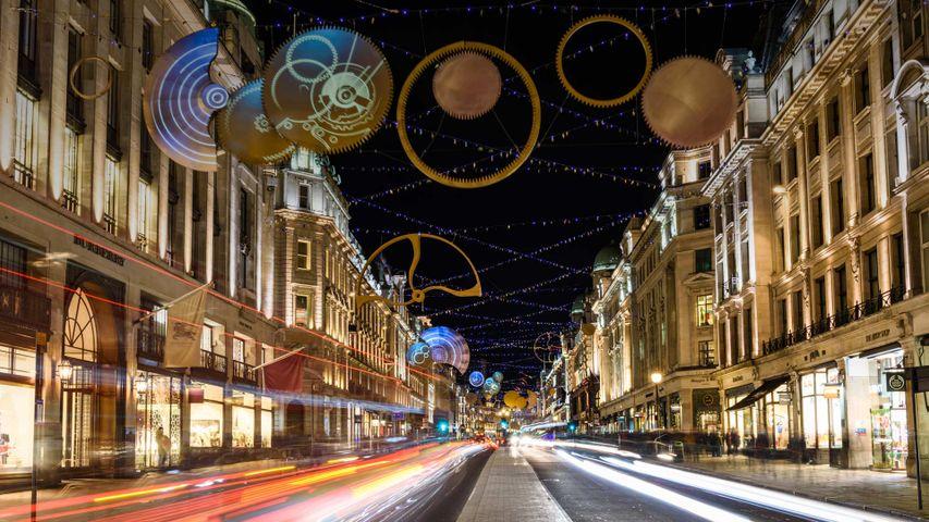 Christmas lights on Regent Street in London's West End