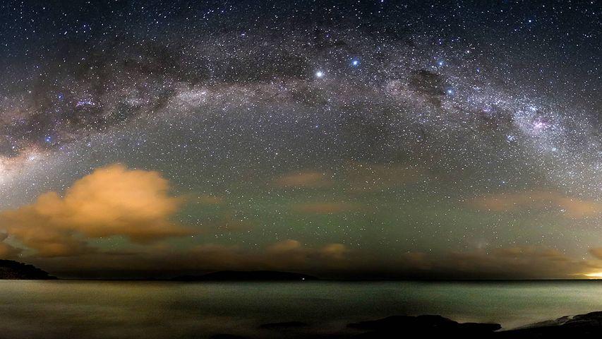 The Milky Way over the Atlantic Ocean