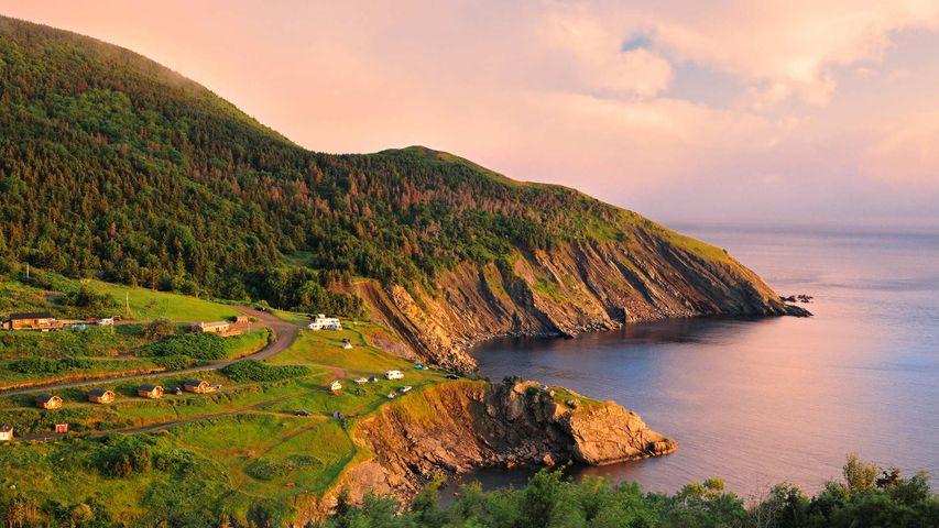Sonnenuntergang über der Kap-Breton-Insel, Nova Scotia, Kanada
