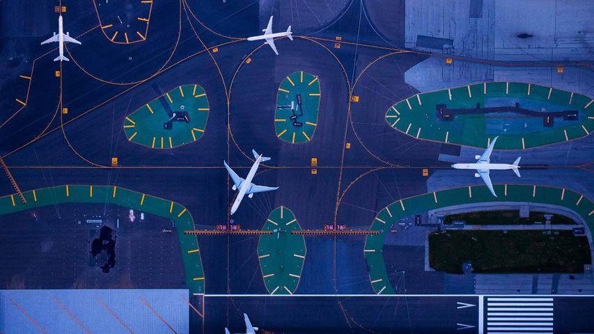 旧金山国际机场的鸟瞰图