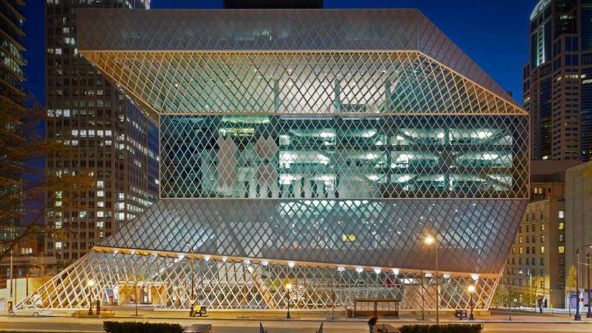Bibliothèque centrale de Seattle, État de Washington, États-Unis