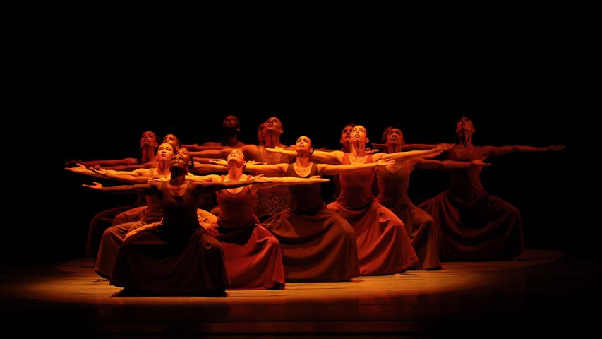 The Alvin Ailey American Dance Theater company performs 'Revelations' in New York City