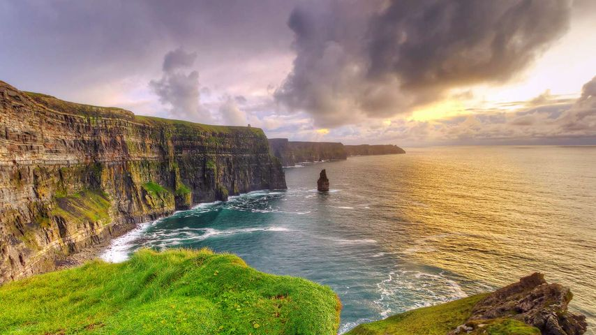 Cliffs of Moher at sunset, County Clare, Ireland