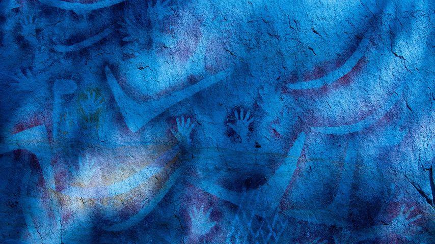 Aboriginal rock art in Carnarvon National Park, Queensland, Australia