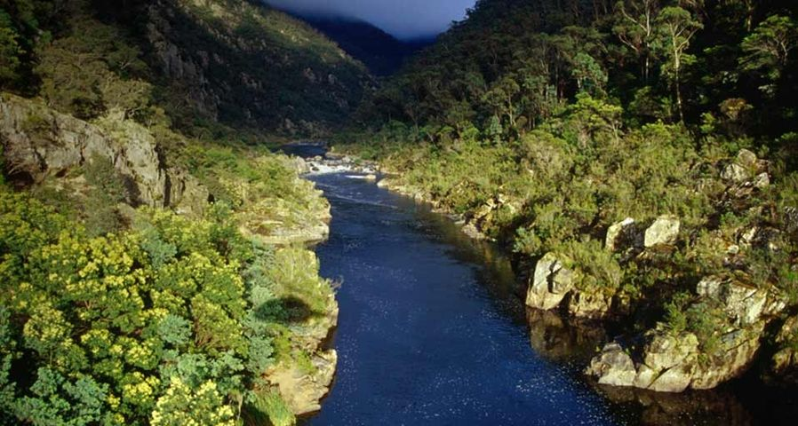 The upper reaches of the Snowy River in Snowy River National Park, Victoria, Australia