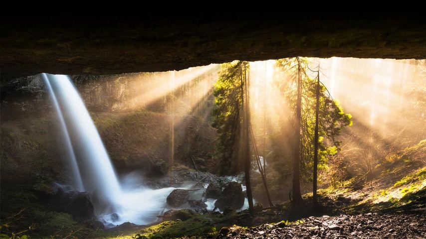 The North Falls in Silver Falls State Park, Oregon, USA
