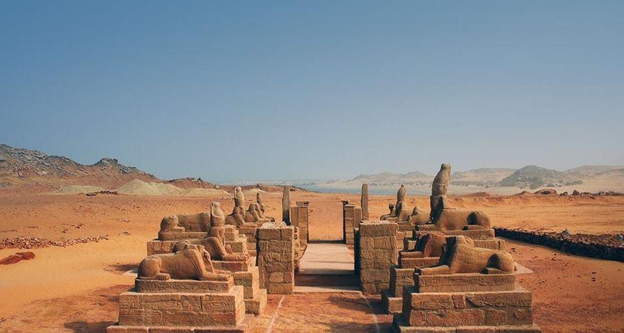 Wadi es-Sebua temple, at the edge of Lake Nasser in Lower Nubia, Egypt