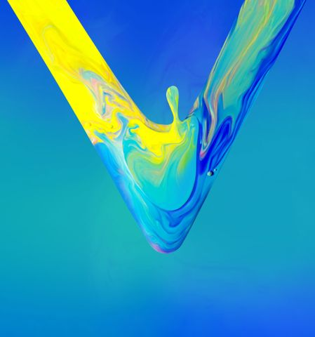 abstract kite flower flag art underwater water