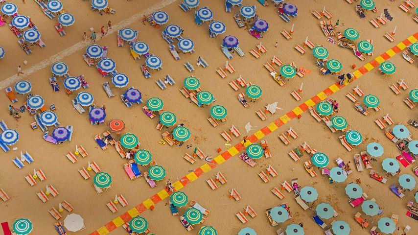 「リミニのビーチ」イタリア, エミリア=ロマーニャ州
