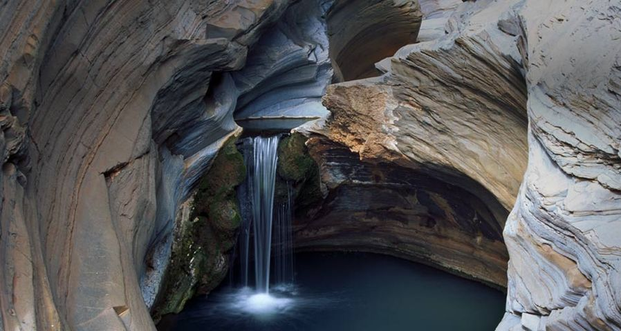 Small waterfall in Hamersley Gorge, Karijini National Park, Australia