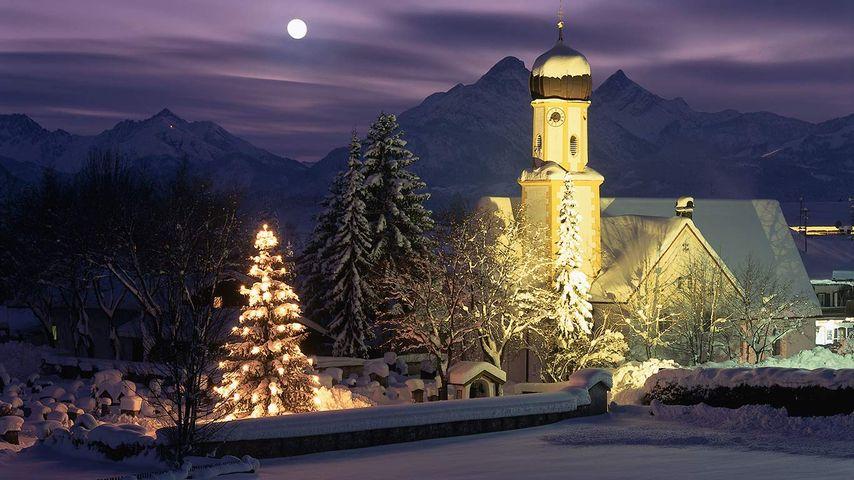 Weihnachten in Wallgau, Bayern, Deutschland