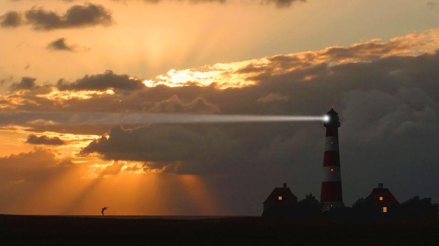 Leuchtturm Westerheversand, Westerhever, Schleswig-Holstein, Deutschland