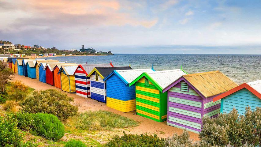 Brighton Bathing Boxes at Brighton Beach, Melbourne, Australia