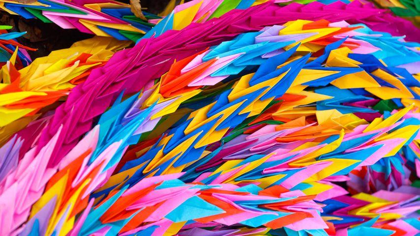 「広島平和記念公園の折り鶴」広島, 広島市