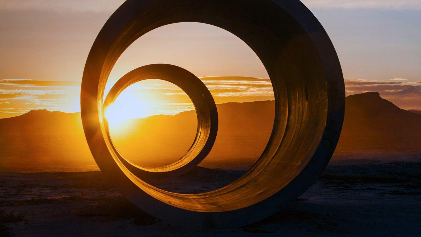 'Sun Tunnels' by artist Nancy Holt near Lucin, Utah