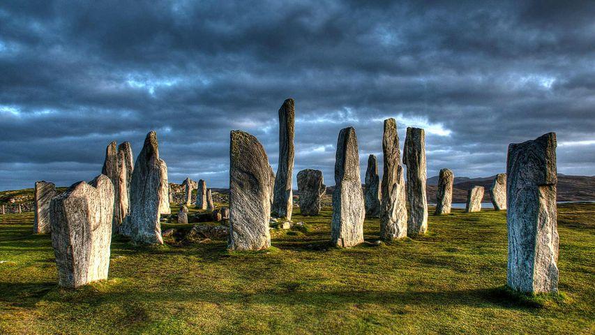 Steinkreis von Callanish, Isle of Lewis, Äußere Hebriden, Schottland