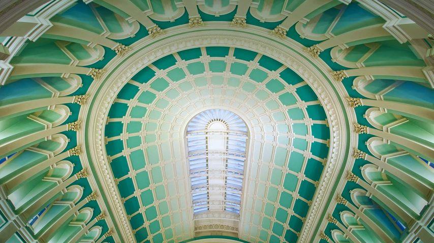 爱尔兰,都柏林,爱尔兰国家图书馆阅览室的圆顶