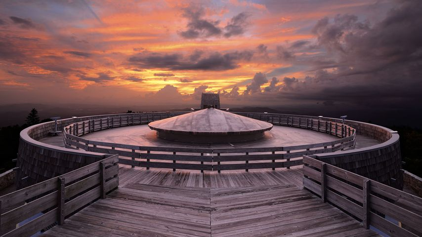 Observatory on the summit of Brasstown Bald Mountain in Georgia, USA