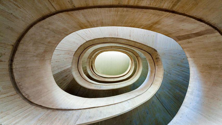 Interior of the Palau de les Arts Reina Sofia in Valencia, Spain