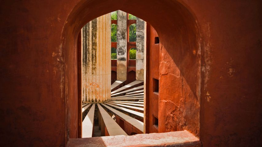 Part of the Jantar Mantar observatory complex in New Delhi, India