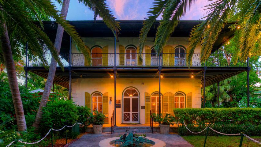 The Ernest Hemingway Home and Museum in Key West, for Hemingway Days