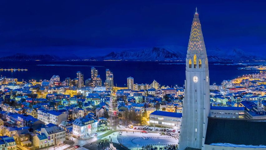 Reykjavik on the second night of the Yule Lads